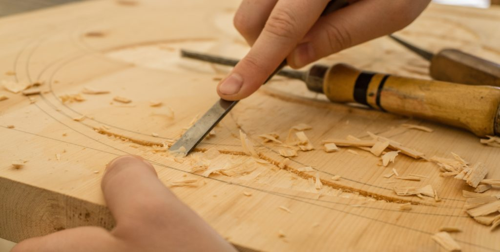 This picture shows an example of basic woodworking tools