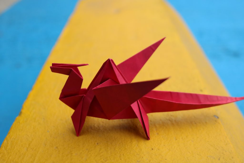 This picture shows an example of Origami which requires intricate paper folding with your hands