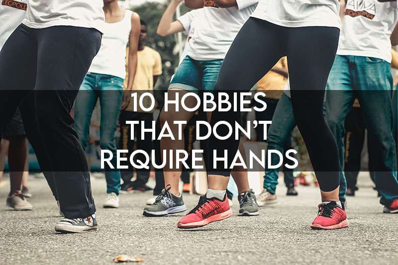 THIS PICTURE FEATURES THE ARTICLE TITLE AND SHOWS AN EVOCATIVE IMAGE OF A PERSON DOING A DANCING HOBBY WITHOUT HANDS