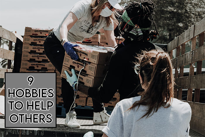 This picture features the relevant title and an evocative image showing people helping others in need