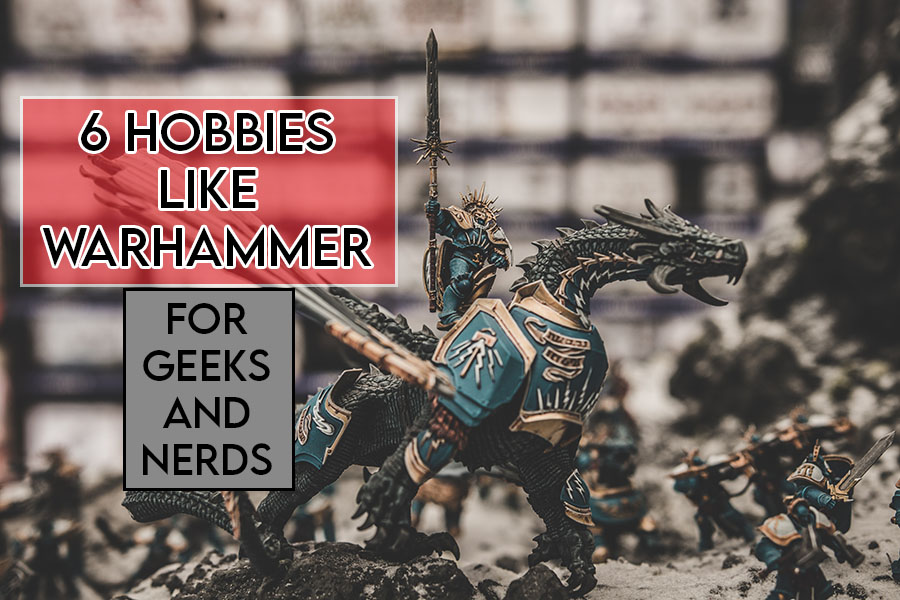 this picture features the relevant title and an evocative image showing a warhammer figurine