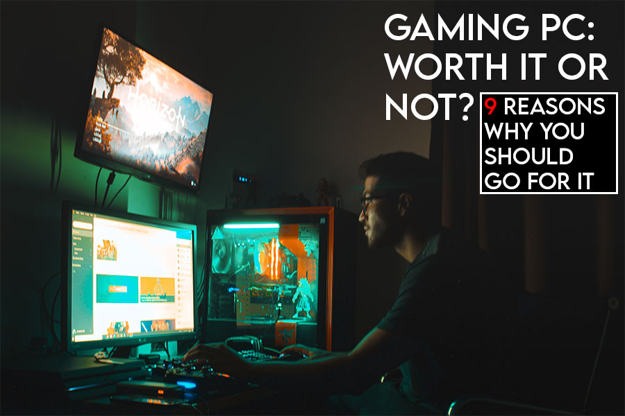 this picture features the relevant title and an evocative image of a gaming pc