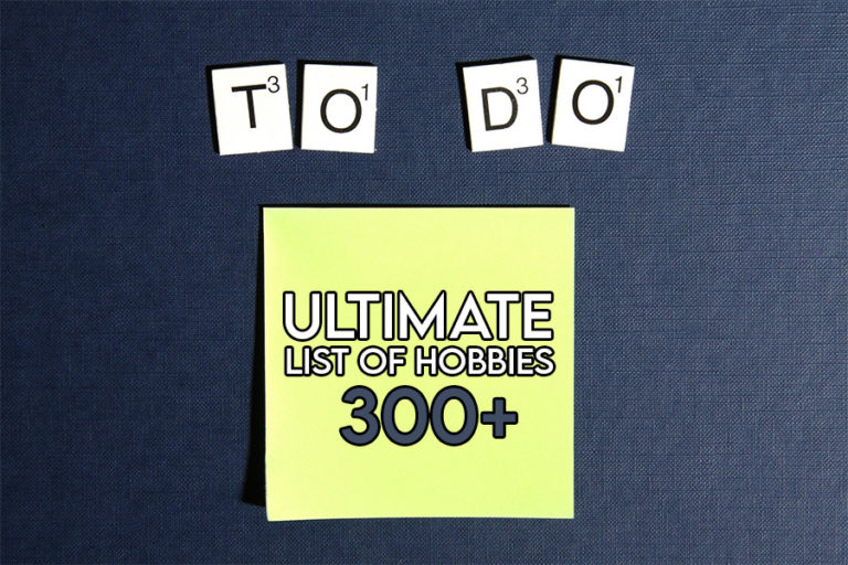 This image features the relevant title relating to a list of hobbies and shows an evocative image of a list