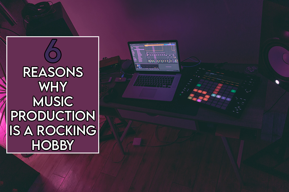 This image features the relevant article title and an evocative image of a home music production studio