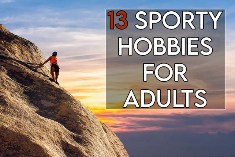 This image features the relevant title regarding sport hobbies for adults and an evocative image of a woman engaged in sports activities