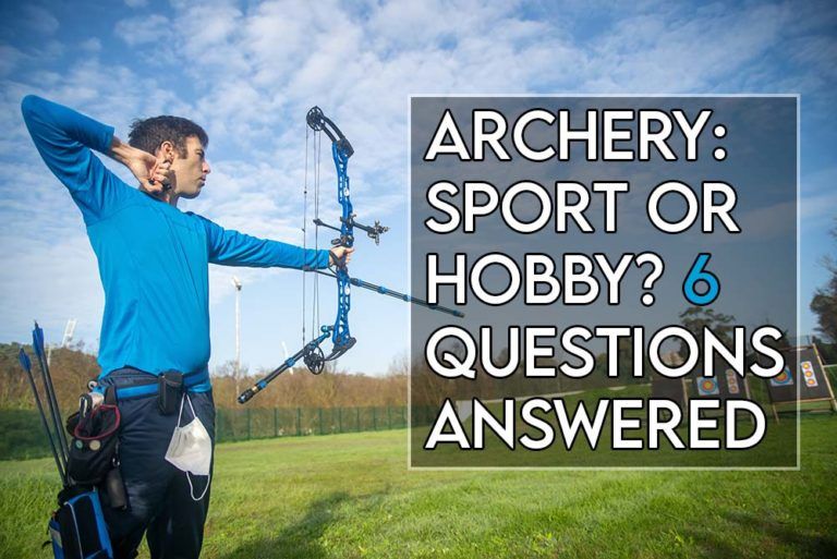 this image features the relevant article title asking if archery is a sport and includes an evocative imgae of a man doing archery