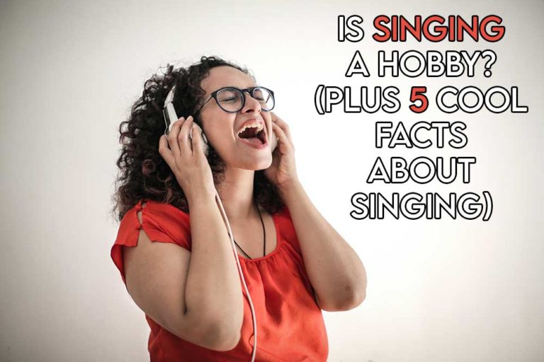 this image features the relevant article title asking whether singing is a hobby including an evocative image of a woman singing