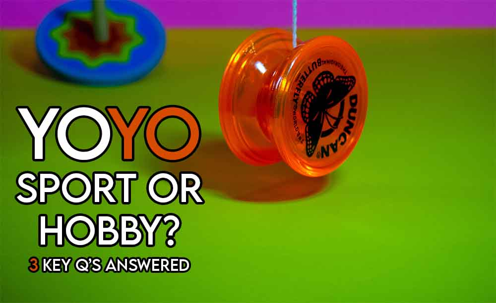 this image features the relevant article title asking whether yoyoing is a sport including an evocative image of a yoyo