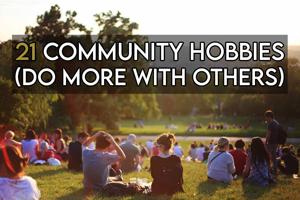 This image features the relevant article title about community hobbies and includes an evocative image of people gathering at a communal event