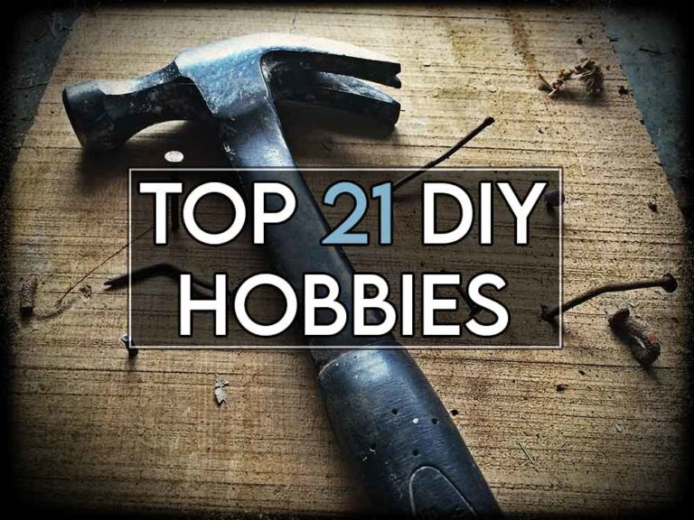 This image features the relevant article title about DIY hobbies and an evocative image of a hammer and tools