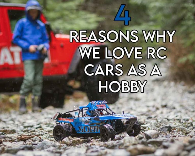 this image features the relevant article title discussing rc cars as a hobby and features an evocative image of a person driving an RC car