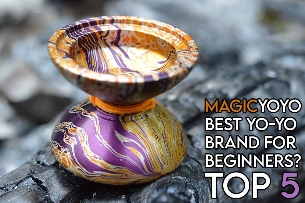 This image features the relevant article title about magicyoyo reviews and an evocative image of a yoyo