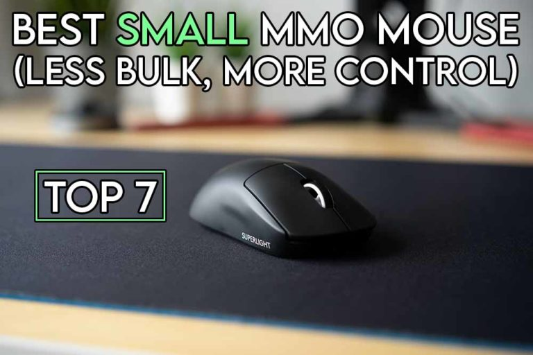 this image features the relevant article title about the best mmo mouse for small hands and also features an evocative image of a small mouse
