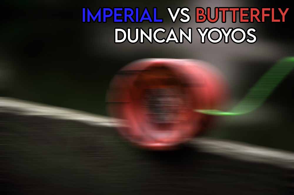 This image features the relevant article title about the duncan imperial vs butterfly yoyo and includes an evocative image of a yoyo