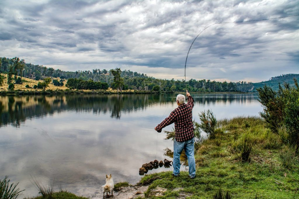This image shows an example of fishing which is a great hobby for men over 50