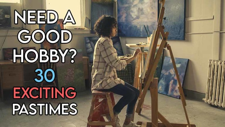 this image includes the relevant article title about good hobbies and also includes an evocative image of a girl doing painting which is one of the hobbies we talk about