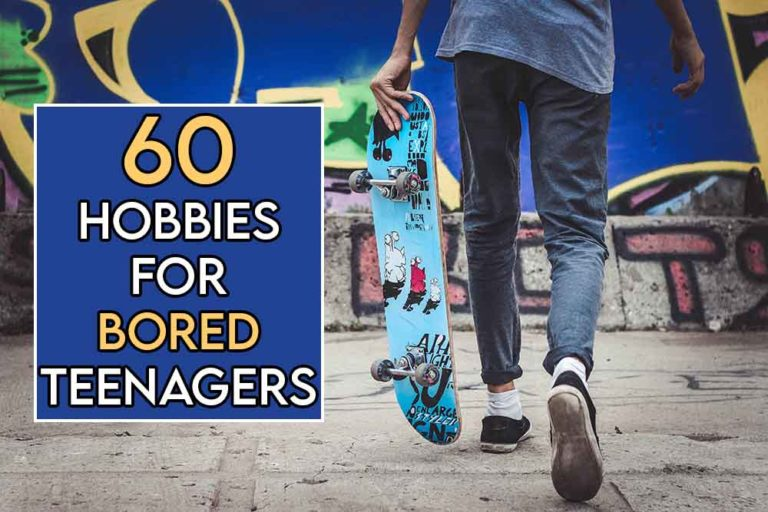 This image features the relevant article title regarding hobbies for teenagers, and also features an evocative image of one of the hobbies in our list